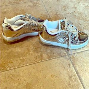 Girls Heelys Gold Shoe